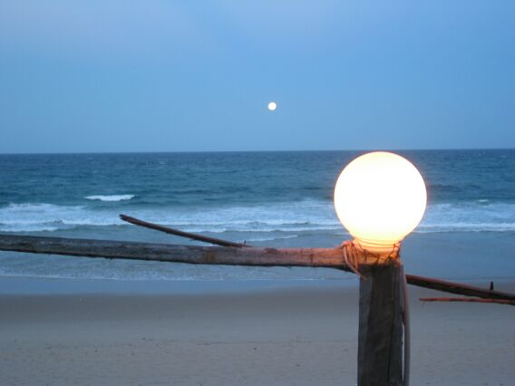 Full moon. Tofo, Mozambique.