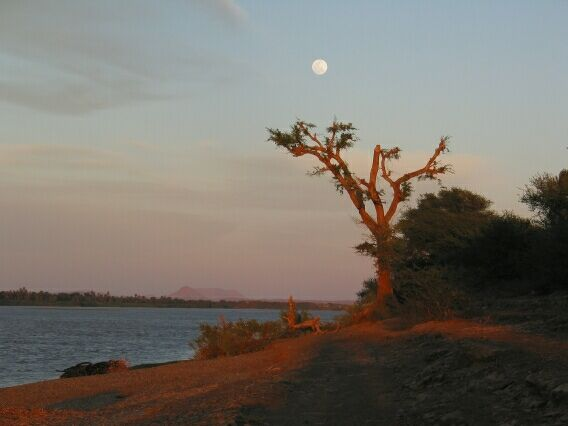 Moonrise over the Nile. Abri.