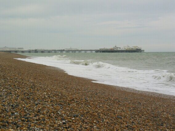 Brighton pier, where donuts and arcade games rule the day.