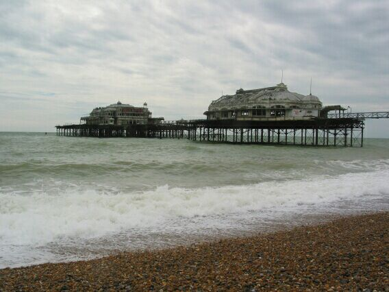 Brighton's derelict, yet somehow more glamorous and infinitely more photogenic 'West Pier'.